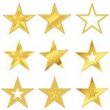 Комплект звезды золота Стоковые Изображения