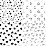 Комплект звёздных безшовных предпосылок иллюстрация вектора
