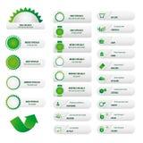 Комплект зеленого цвета вебсайта дела Стоковая Фотография