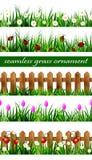 Комплект зеленой травы безшовный Стоковые Фото