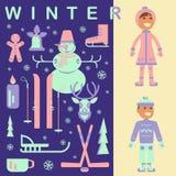 Комплект зимы ягнится одежды Стоковые Изображения RF