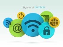 Комплект знаков и символов сети Стоковое Изображение