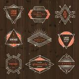 Комплект знаков и эмблем битника grunge Стоковые Фотографии RF