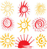 Комплект знаков солнца Стоковые Фотографии RF