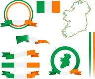 Комплект знамени Ирландии Стоковое Изображение RF