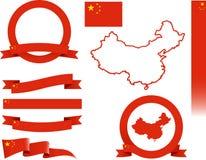 Комплект знамени Китая Стоковые Изображения