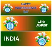 Комплект знамени продажи Дня независимости, заголовок продажи Стоковое Изображение RF