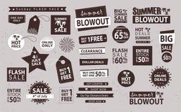 Комплект знамени продажи Магазин теперь, покупка одно получает одно свободный, вектор Стоковое Фото