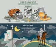 Комплект знамени рыцаря Стоковые Изображения RF