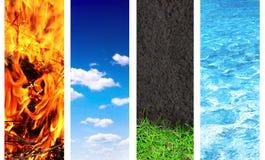 Комплект знамени с элементами природы Стоковое Фото