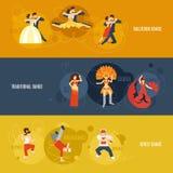 Комплект знамени танца Стоковое Изображение