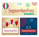 Комплект знамени торжества Septemberfest Стоковое Фото