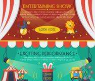 Комплект знамени цирка иллюстрация штока