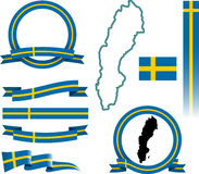 Комплект знамени Швеции Стоковая Фотография RF