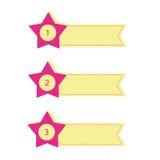 Комплект знамен звезды Стоковое Изображение RF