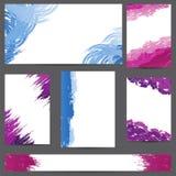 Комплект знамен дизайнов с помарками краски иллюстрация вектора