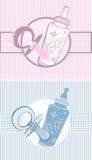 Комплект знамен младенца Иллюстрация вектора