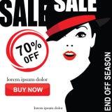 Комплект знамен продажи моды Стоковые Изображения