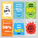 Комплект знамен продажи для вебсайта и продвижений в магазинах Стоковое Изображение RF