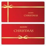 Комплект знамен рождества и Нового Года Стоковая Фотография