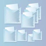 Комплект знамен с папками и бумагой Стоковые Фотографии RF
