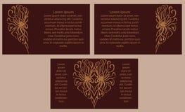 Комплект 3 знамен с сердцами связанный вектор Валентайн иллюстрации s 2 сердец дня Стоковая Фотография