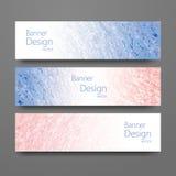 Комплект знамен с ультрамодными цветами Стоковое Фото