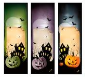 Комплект знамен хеллоуина праздника. Стоковое Изображение