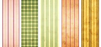 Комплект знамен grunge с striped картиной и текстурой бумаги Стоковые Фото