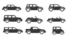 Комплект значка автомобиля Стоковое Изображение