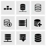 Комплект значка базы данных вектора Стоковое фото RF
