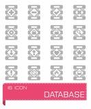 Комплект значка базы данных вектора Стоковые Фото