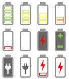 Комплект значка батареи Стоковое Изображение RF