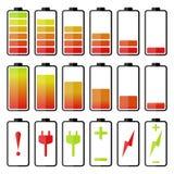 Комплект значка батареи Стоковые Изображения