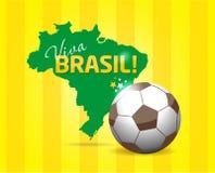 Комплект значка Бразилии Стоковые Изображения RF