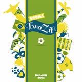 Комплект значка Бразилии Стоковое Изображение RF