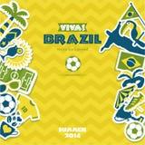 Комплект значка Бразилии Стоковая Фотография
