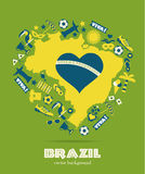 Комплект значка Бразилии Стоковые Фото