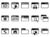 Комплект значка браузера Стоковые Фотографии RF