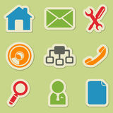 Комплект значка вебсайта Стоковые Изображения RF