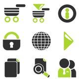 Комплект значка вектора вебсайта Стоковые Изображения RF