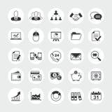 Комплект значка вектора дела полный стоковые изображения rf