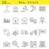 Комплект значка вектора имущественного агентства недвижимости Стоковые Фото
