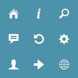 Комплект значка вектора интернета сети Стоковое Изображение RF