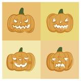 Комплект значка вектора хеллоуина Стоковое фото RF