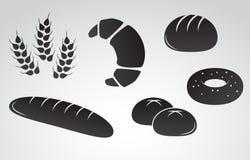 Комплект значка вектора хлеба Стоковые Изображения