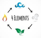 Комплект значка вектора 4 элементов Стоковые Изображения
