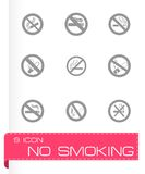 Комплект значка вектора для некурящих Стоковая Фотография