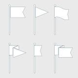 Комплект значка вектора Pin флага плоский Стоковое Изображение RF
