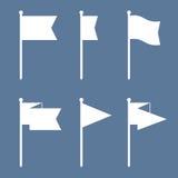 Комплект значка вектора Pin флага плоский Стоковые Фотографии RF